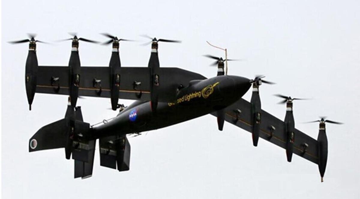 """酷炫""""闪电""""飞机:携10个发动机 电池驱动飞行"""