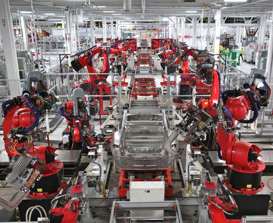 特斯拉汽车生产线